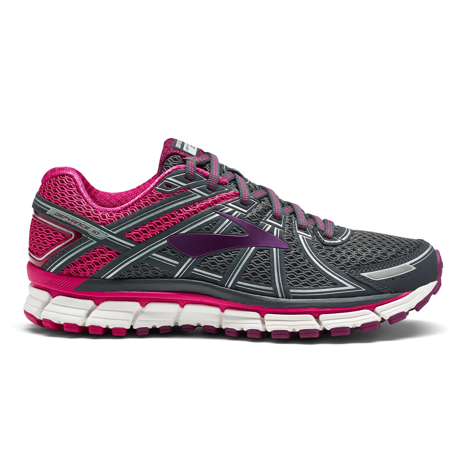 2d80aac7506c8 Brooks Defyance 10 - Womens Running Shoes - Ebony Pink Plum