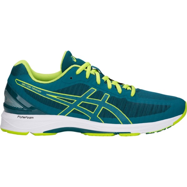 Asics Gel DS Trainer 23 - Mens Running Shoes - Deep Aqua/Neon Lime