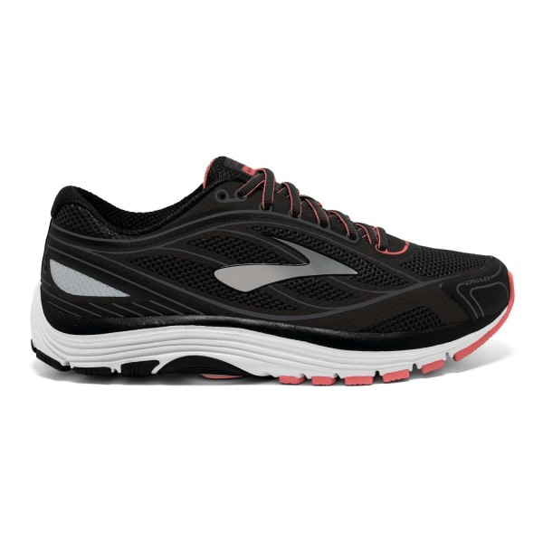 Brooks Dyad 9 - Womens Running Shoes - Black/White/Sugar Coral