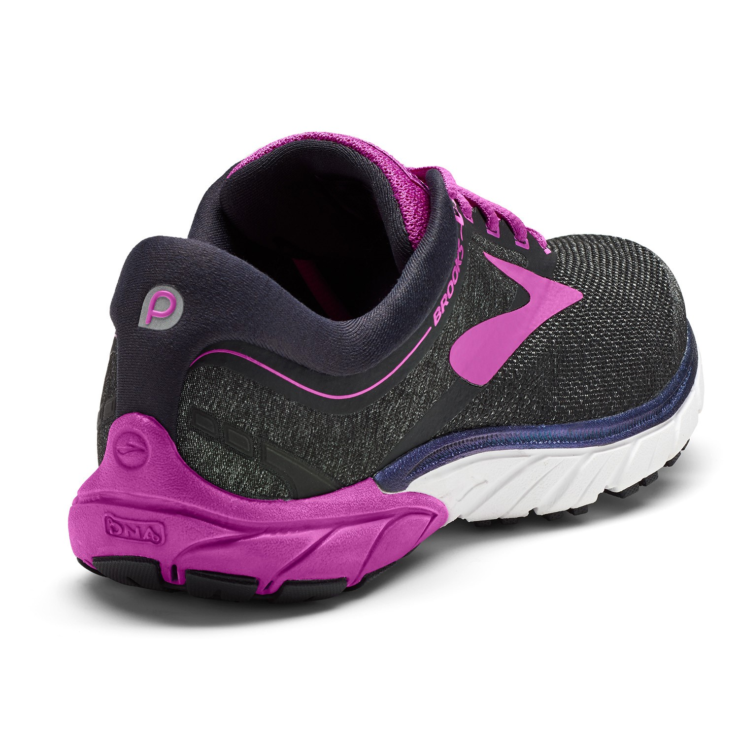 42d9f1734debb Brooks Pure Cadence 7 - Womens Running Shoes - Black Purple Multi ...