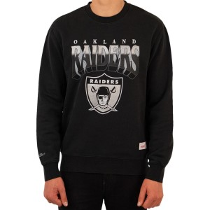 Mitchell & Ness Oakland Raiders NFL Rush Crew Mens Football Sweatshirt