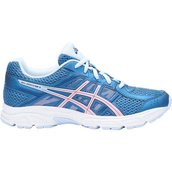 Asics Gel Contend 4 GS - Kids Girls Running Shoes - Azure/Frosted Rose