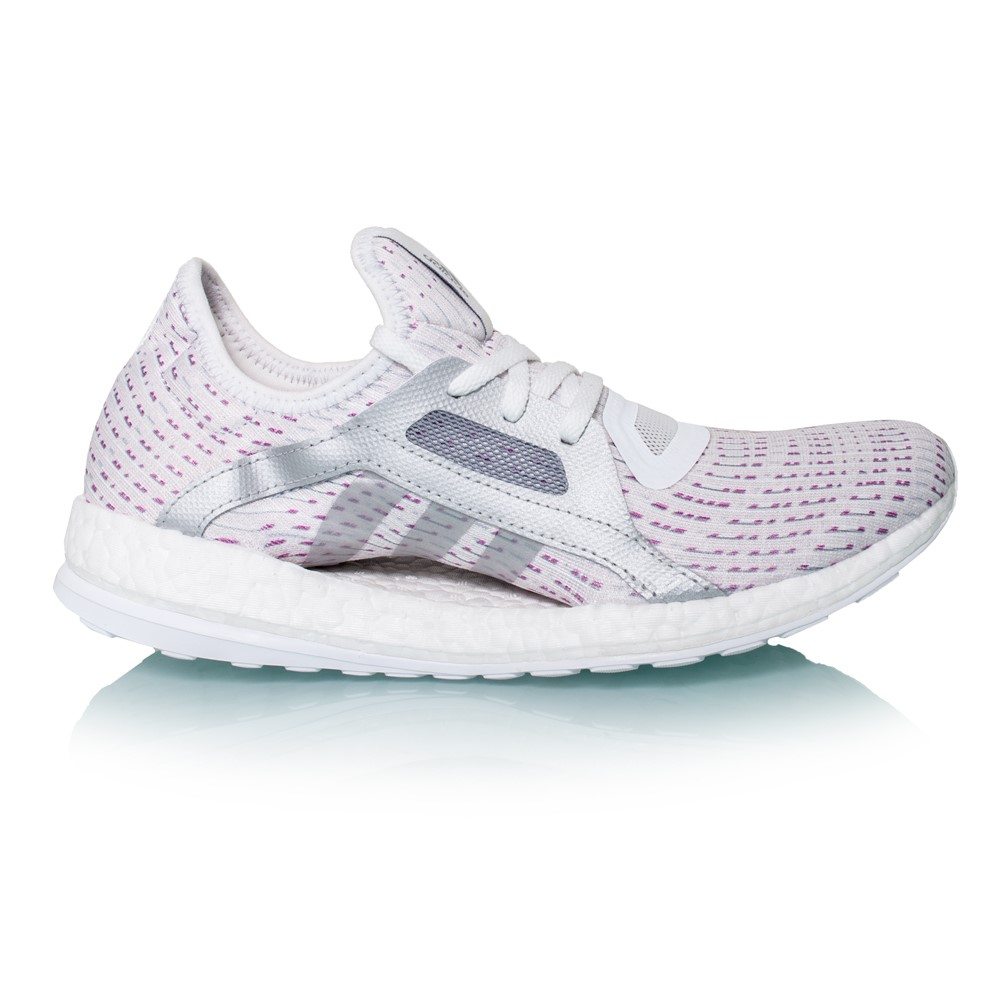 Adidas Pure Boost X - Womens Running Shoes - White/Silver Metallic