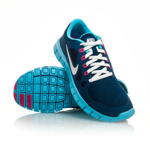 Nike Free 5.0 GS - Kids Girls Running Shoes - Blue Pink White ... cbc42cab0