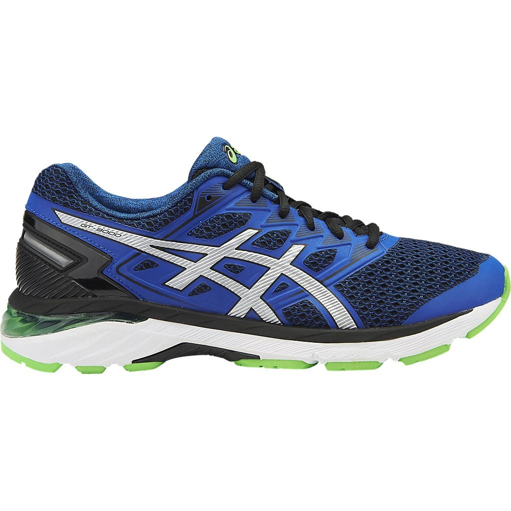 asics gt 3000 5 mens running shoes black silver. Black Bedroom Furniture Sets. Home Design Ideas