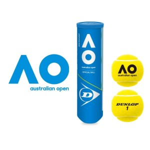 Dunlop Australian Open Hardcourt Official Ball - 4 Ball Can