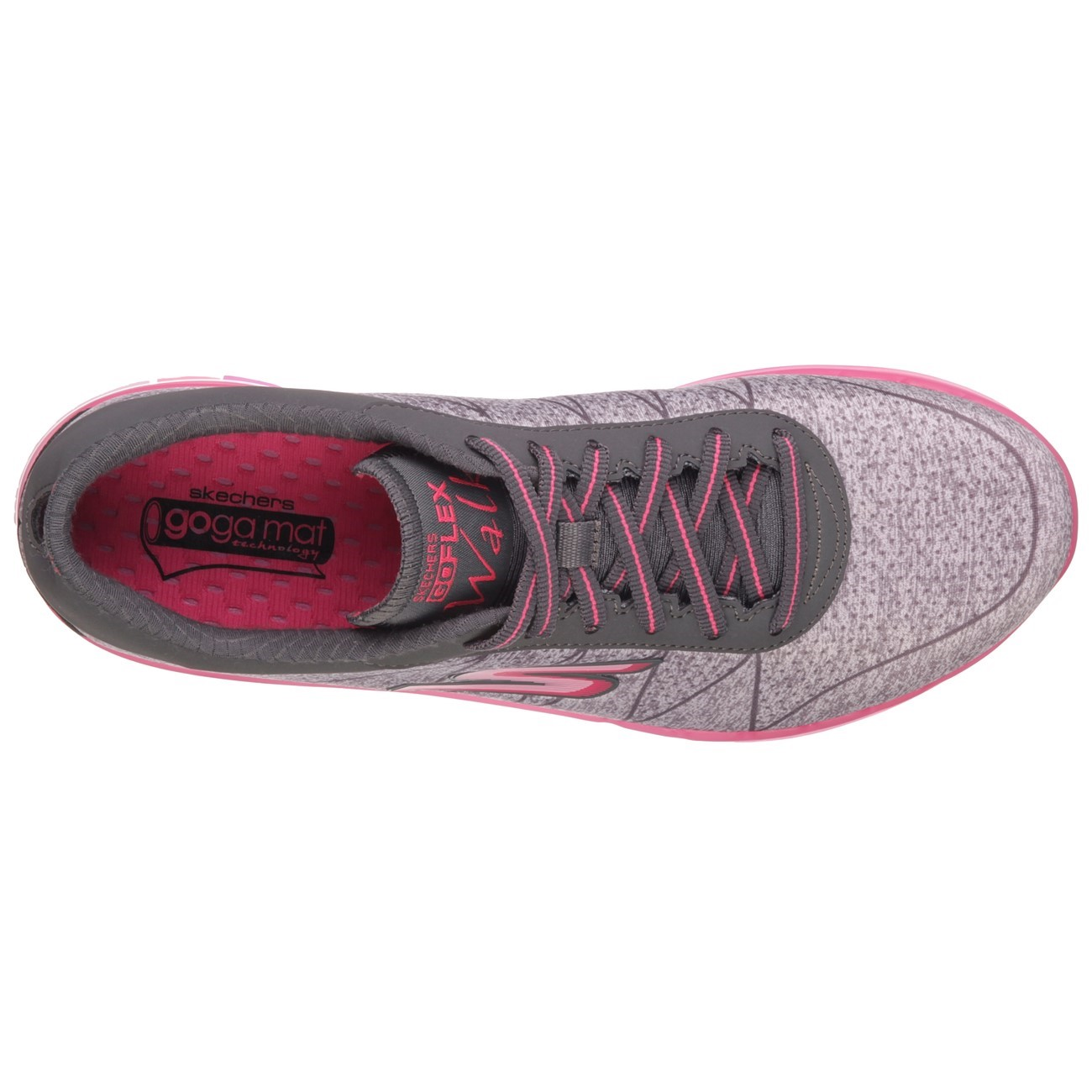334bc8627d67 Skechers Go Flex Walk Ability - Womens Walking Shoes - Grey Hot Pink ...