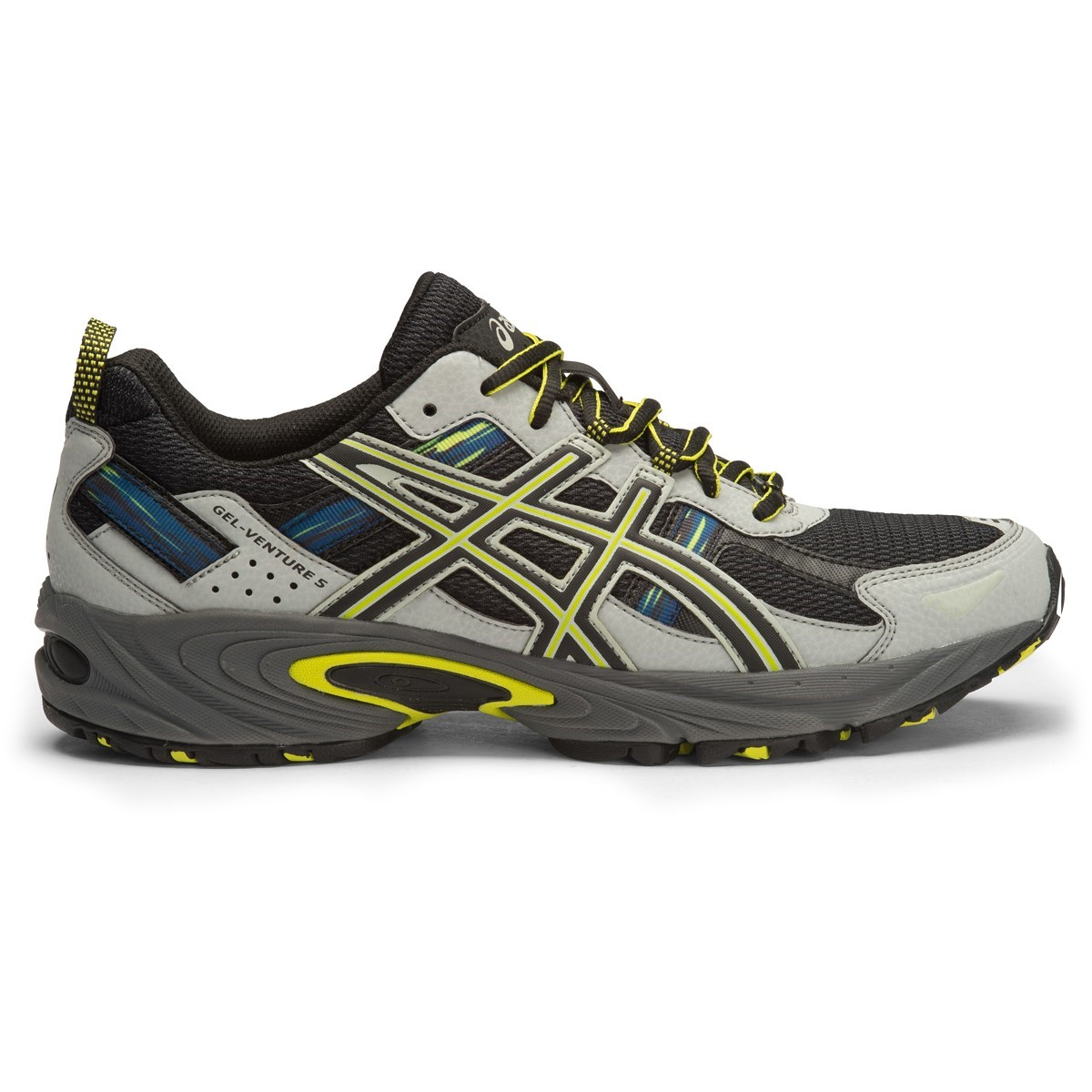 cde6d9b9fcc Asics Gel Venture 5 - Mens Trail Running Shoes - Dark Steel Black Neon
