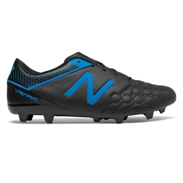 New Balance Visaro Liga Full Grain FG - Mens Football Boots - Black/Bolt Blue