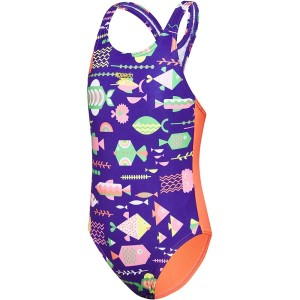 Speedo Fun Fish Medalist Toddler Girls One Piece Swimsuit