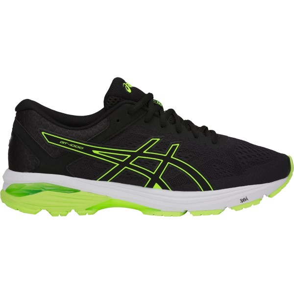 Asics GT-1000 6 - Mens Running Shoes - Black/Safety Yellow
