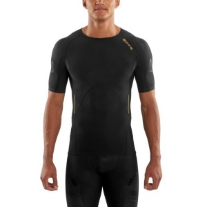 Skins A400 Mens Compression Short Sleeve Top (2017) - Oblique + Free Gym Bag