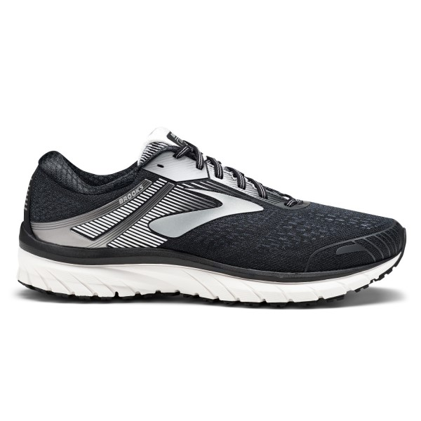 Brooks Adrenaline GTS 18 - Mens Running Shoes - Black/Silver/White