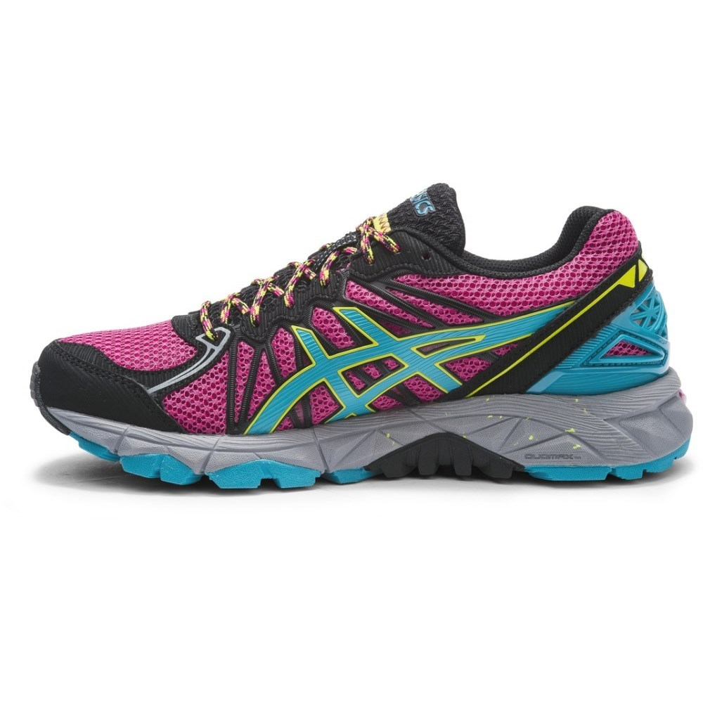 asics gel fuji trabuco 3 last size us 7 5 womens trail running shoes magenta aqua blue. Black Bedroom Furniture Sets. Home Design Ideas