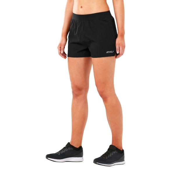2XU X-Vent 4 Inch Womens Running Free Shorts - Black