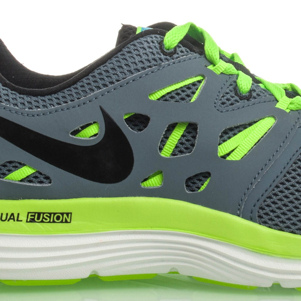 nike dual fusion lite mens running shoes grey green online sportitude. Black Bedroom Furniture Sets. Home Design Ideas