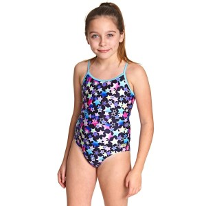 Zoggs Stars Sprintback Kids Girls One Piece Swimsuit