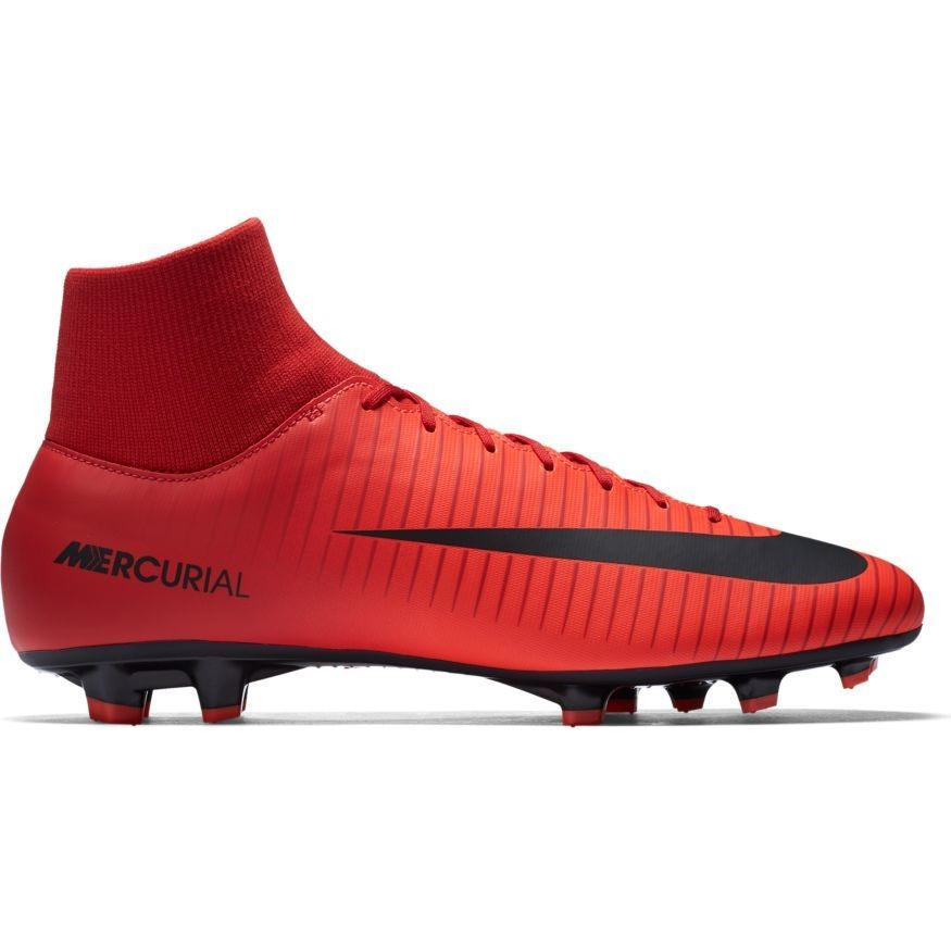 184c2b6fed2 Nike Mercurial Victory VI Dynamic Fit FG - Mens Football Boots - University  Red Black