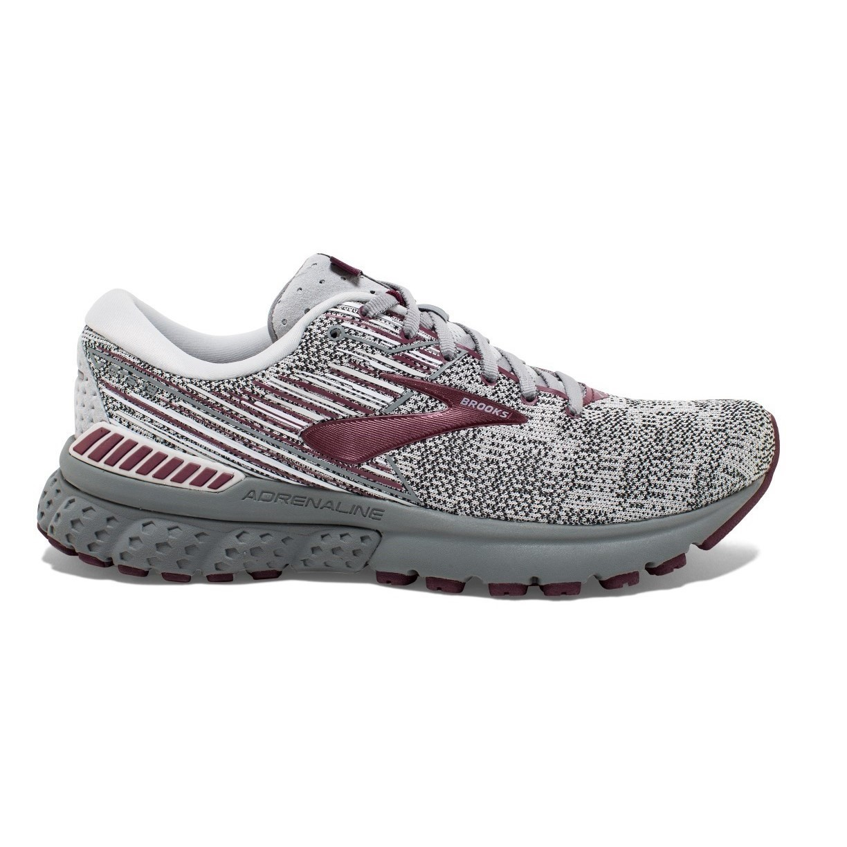267e262448984 Brooks Adrenaline GTS 19 Knit - Womens Running Shoes - Grey White ...