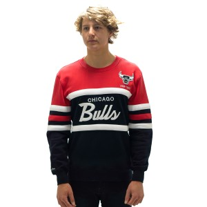 Mitchell & Ness Head Coach Crew Chicago Bulls Mens Sweatshirt