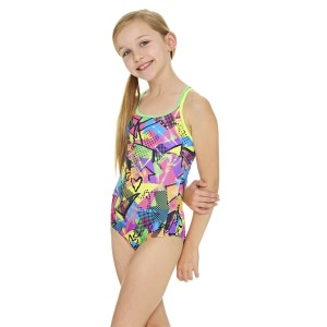 Zoggs Street Girl Duoback Kids Girls One Piece Swimsuit