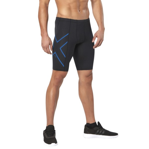 2XU ICE-X Mens Compression Shorts - Black/Cool Blue