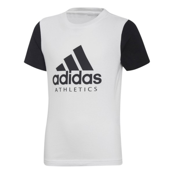 Adidas Sports ID Kids Boys Casual T-Shirt - White/Black