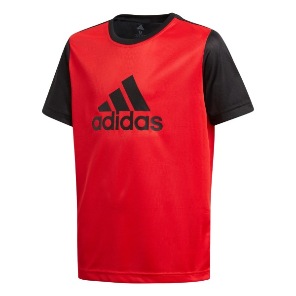 Adidas Gear Up Kids Boys Training T-Shirt - Red/Black