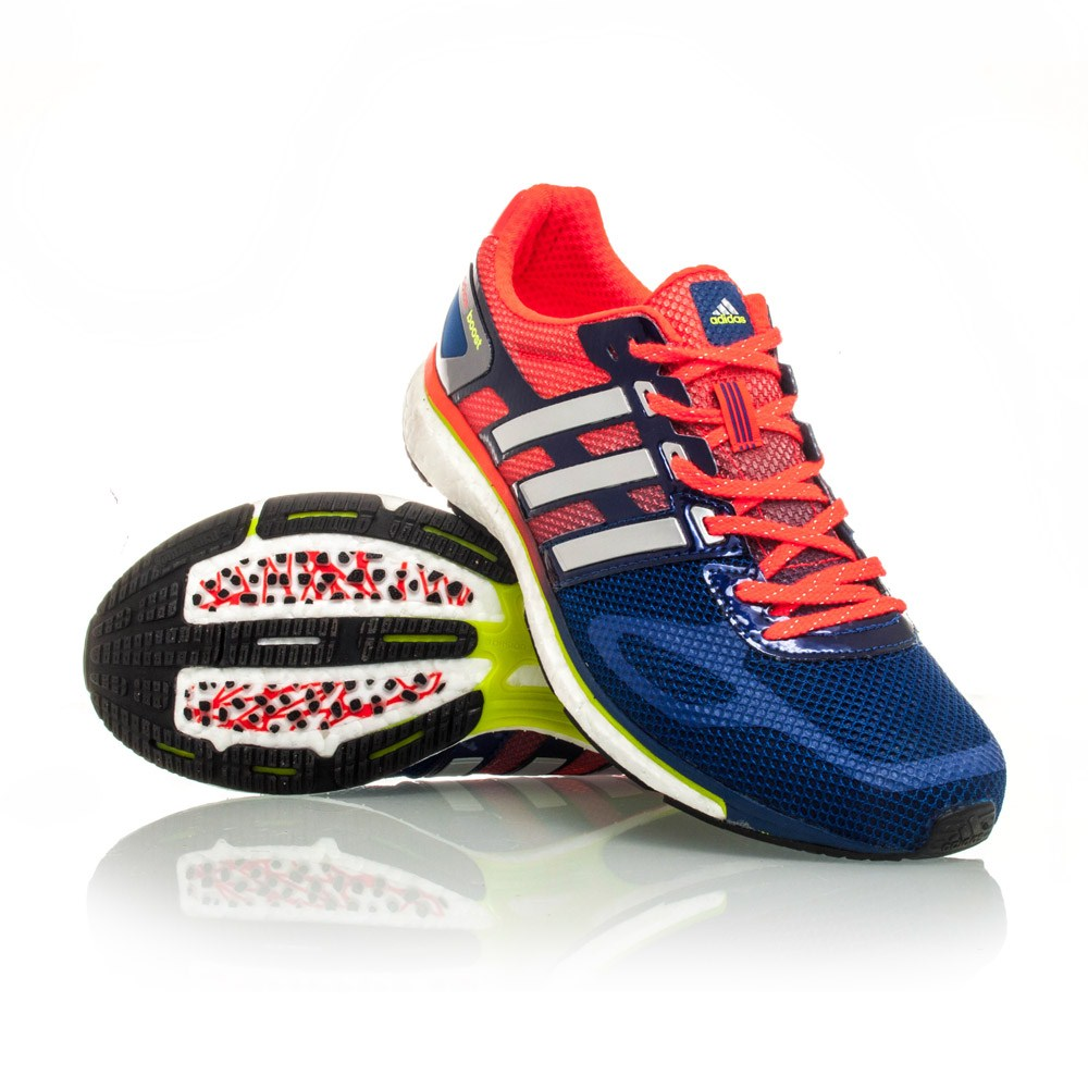 adidas adizero adios boost mens running shoes orange blue online sportitude. Black Bedroom Furniture Sets. Home Design Ideas