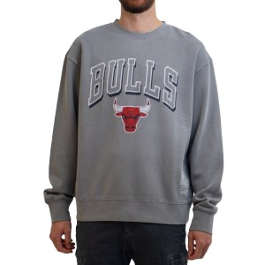 Mitchell & Ness Chicago Bulls Vintage Keyline Logo Crew NBA Mens Basketball Sweatshirt