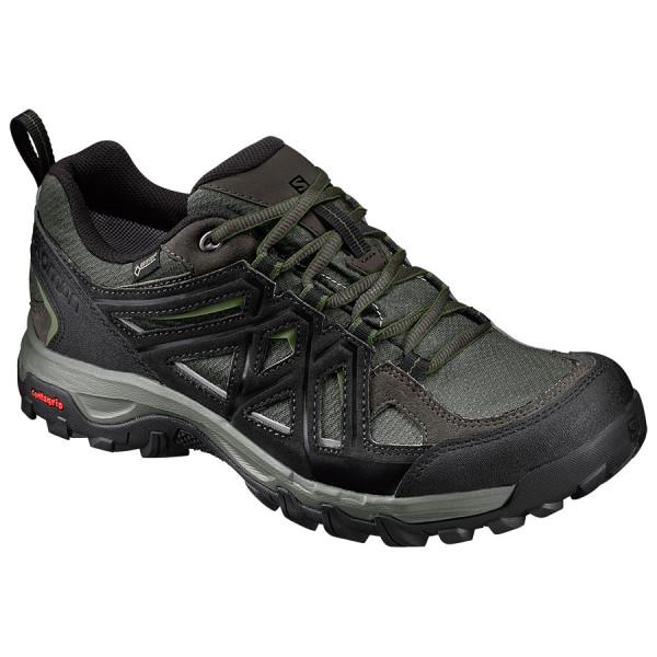 Salomon Evasion 2 GTX - Mens Trail Hiking Shoes - Castor Gray/Black/Chive