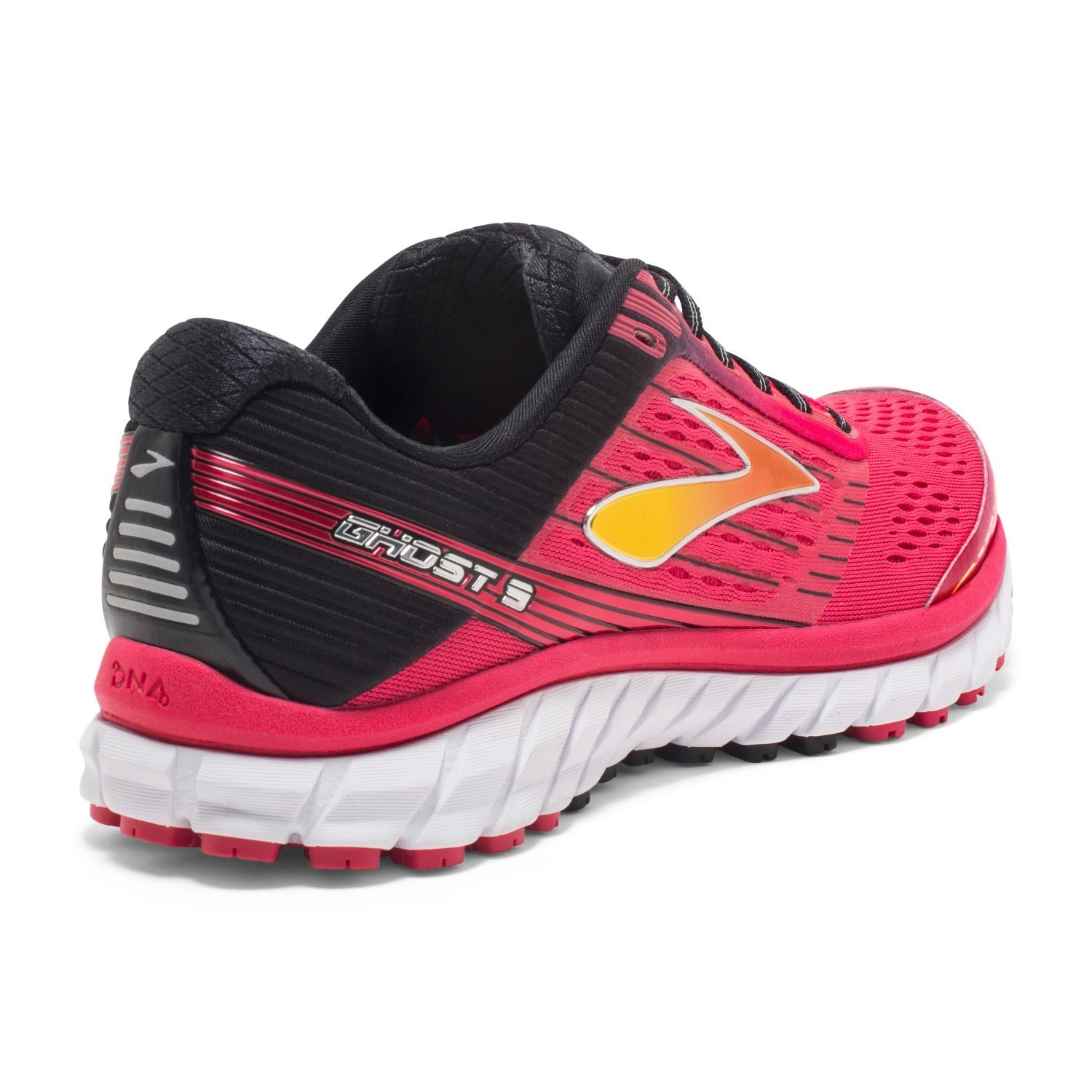 94dfb1eadccd1 Brooks Ghost 9 - Womens Running Shoes - Azalea Black Cyber Yellow ...