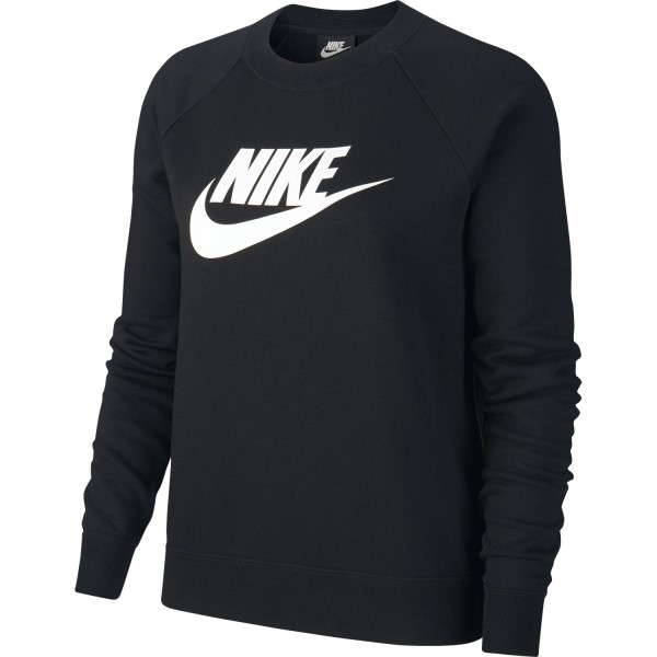 Nike Sportswear Essential Crew Womens Long Sleeve T-Shirt - Black/White