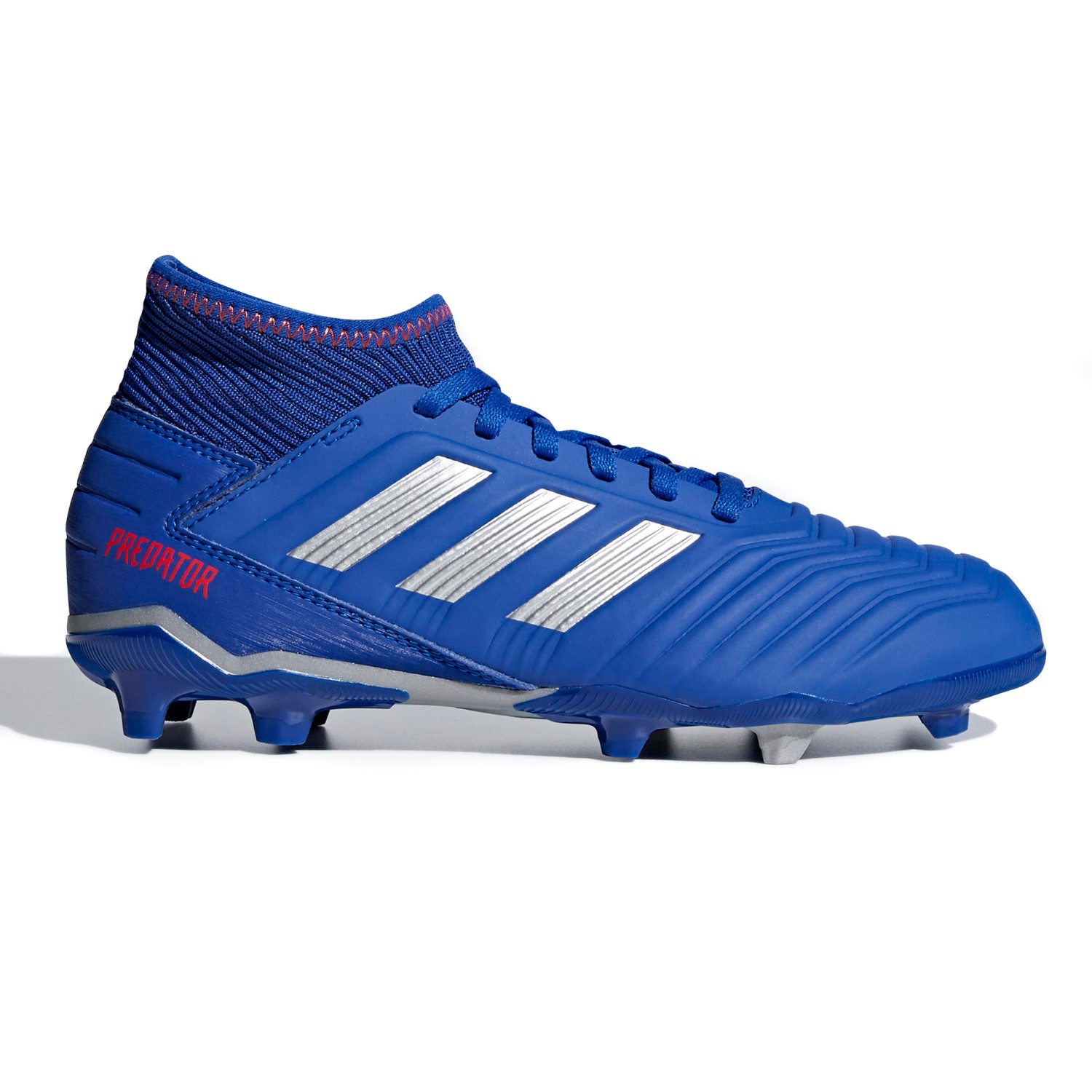 4a3be60cd58 Adidas Predator 19.3 FG - Kids Boys Football Boots - Blue Silver Active Red