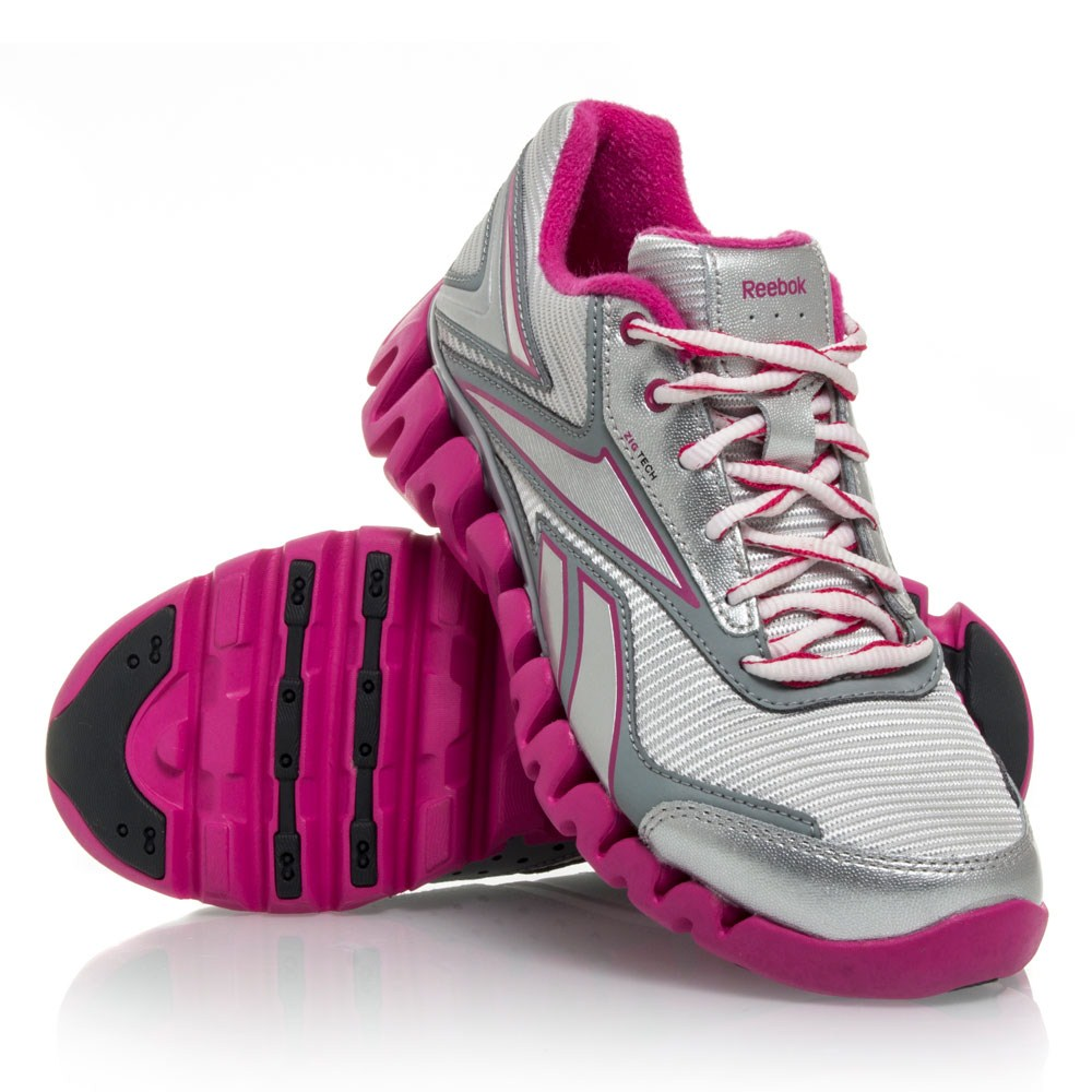 detailed look 575b3 988d4 Reebok ZigActivate GS - Junior Girls Running Shoes - Silver Pink White