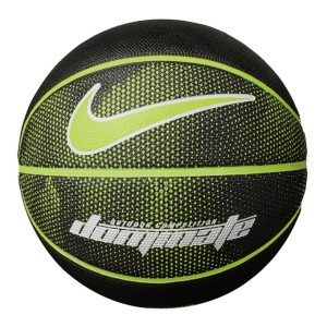 Nike Dominate Outdoor Basketball - Size 7 - Black/Volt/White