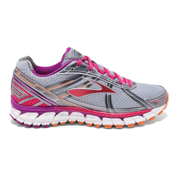 cee961942e1 Brooks Defyance 9 - Womens Running Shoes - Silver Charcoal Pink ...