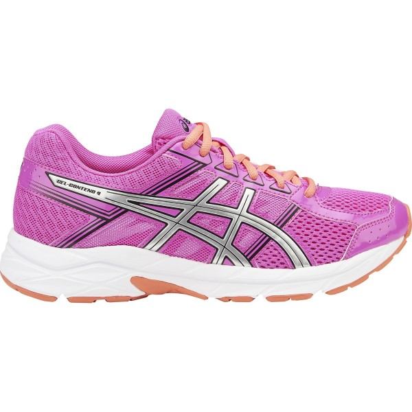 Asics Gel Contend 4 - Womens Running Shoes - Pink Glow/Silver/Black