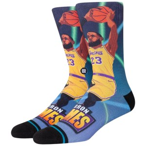 Stance Fast Break LeBron James Los Angeles Lakers NBA Socks