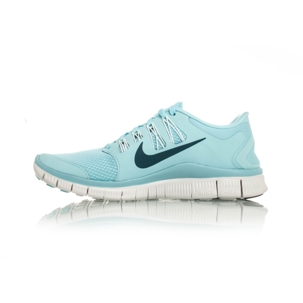 Nike Free 5.0+ - Womens Running Shoes - Ice Blue/White ...