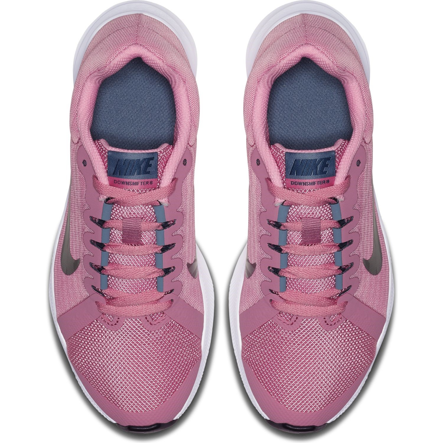2e7a0fac3c56 Nike Downshifter 8 GS - Kids Girls Running Shoes - Elemental Pink Metallic  Silver
