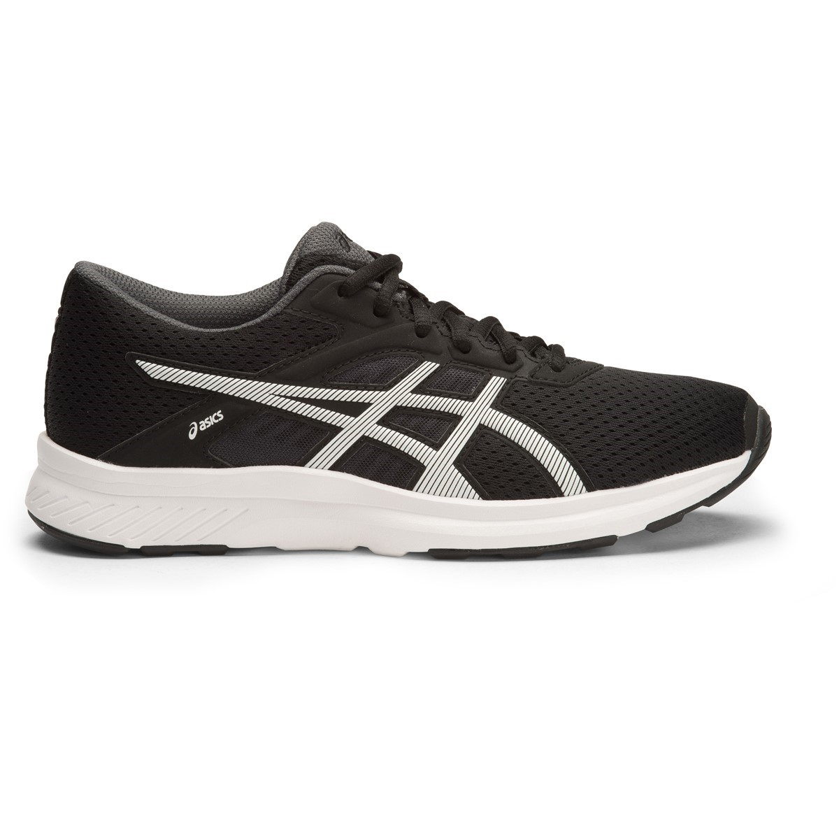 low priced dd28d b55c0 Asics Fuzor - Womens Running Shoes - Black White Dark Steel