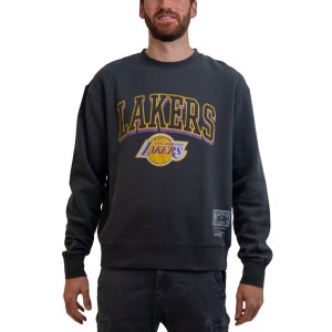 Mitchell & Ness Los Angeles Lakers Vintage Keyline Logo Crew NBA Mens Basketball Sweatshirt