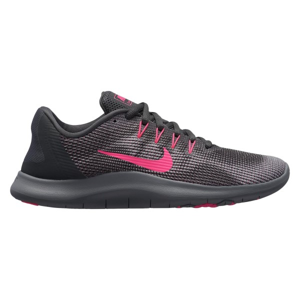 Nike Flex RN 2018 - Womens Running Shoes - Anthracite/Hyper Pink/Wolf Grey