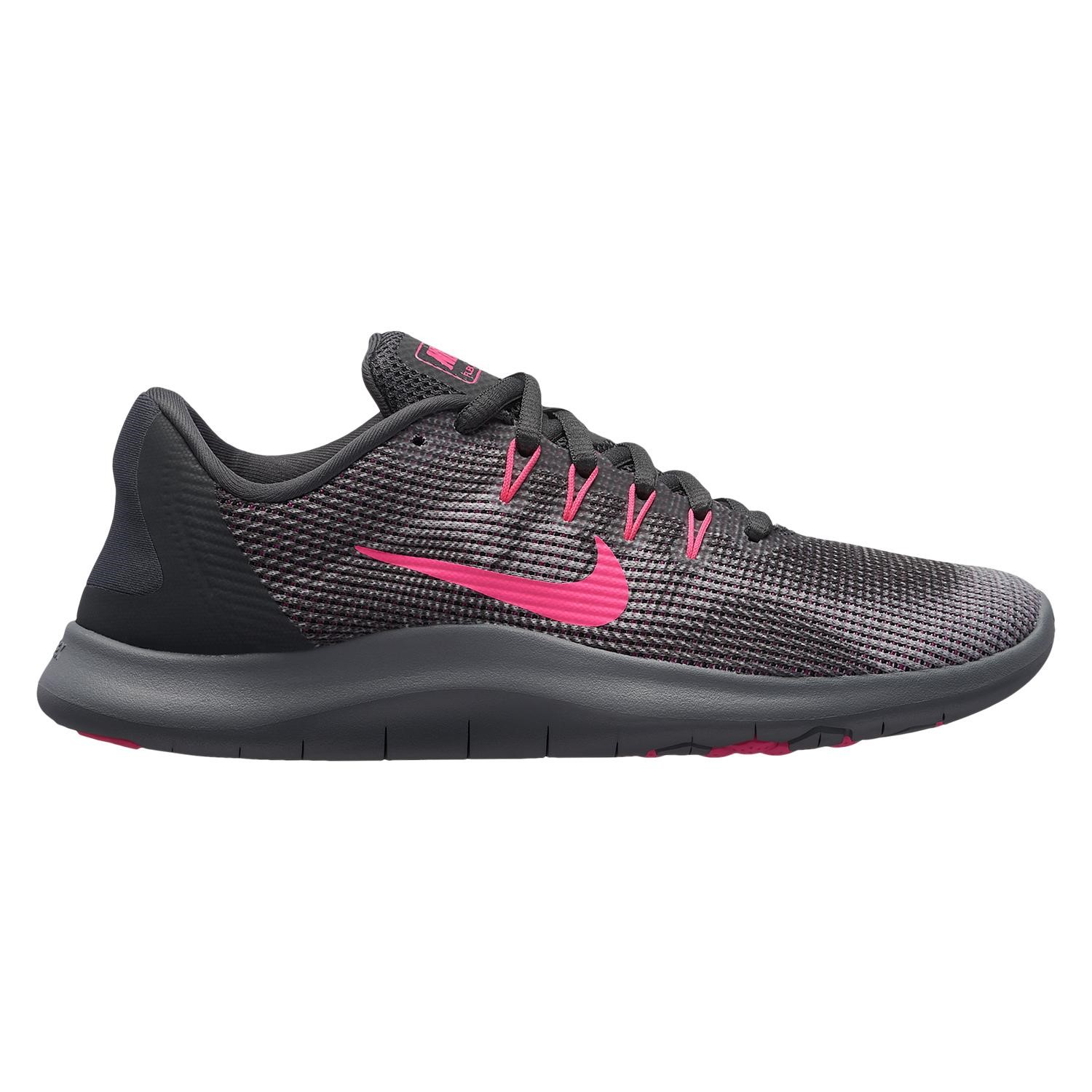 finest selection 19680 ad8aa Nike Flex RN 2018 - Womens Running Shoes - Anthracite Hyper Pink Wolf Grey