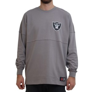 Majestic Athletic Raiders Split Script NFL Mens Long Sleeve T-Shirt