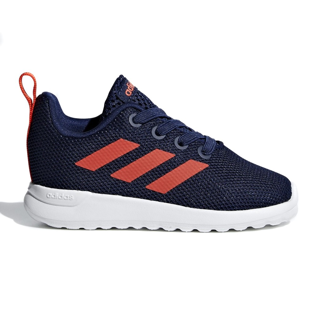 ad15baa93c6 Adidas Lite Racer Clean - Toddler Boys Running Shoes - Dark Blue Dark Orange