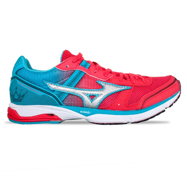 Mizuno Wave Emperor 3 - Womens Running Shoes - Teaberry/Black/Peacock Blue