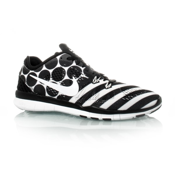 1d12395805887 Nike Free 5.0 TR Fit 5 Print - Womens Training Shoes - Black White ...