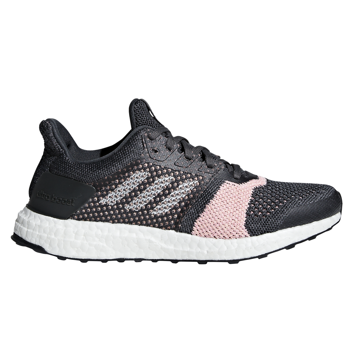 ad9407166da33 Adidas Ultra boost ST - Womens Running Shoes - Carbon Cloud White Pink